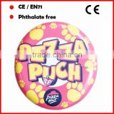 PVC inflatable frisbee toys for Pizza Shop as free gifts free samples