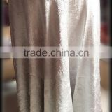 silver grey color Crinkle polyester banquet table cloth crushed fabric table cover cloth for hall wedding banquet