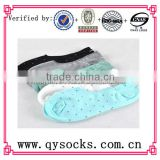 ladies boat dot soft short sock with cotton