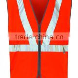 2015 Wholesale Quality Organge High Visibility Reflective Mining Workwear Vest Hot Sale Customed Mining Working Clothes