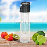 Sport Water Bottle with Fruit Infuser and Carrying Handle,with Locking Flip Top Lid,BPA FREE -23 Oz-made with Tritan Copolyester