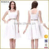 Wholesale Rockabilly Swing Dress Plain White Vintage Dress 50S