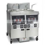 Deep Electric Open Fryer Double Tanks ( CE certificate LCD control panel and With Oil Pump)