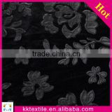 High quality black PU leather applique embroidery african velvet lace fabric for lady garment