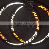 MeyerGlobal Reflective logo high profile carbon rims 700C carbone carbon road bike clincher wheelset 50mm