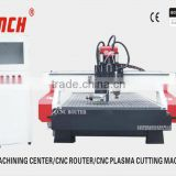 cnc door engraving machine /4.5kw spindles /vacuum table/heavy duty structure /Stepper motors