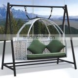 outdoor modern gazebo two seat swing chair