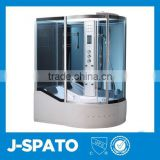 Luxury Living Room Furniture Hangzhou Italian Whirlpool Aluminum Frame Glass Sliding Door Round Home Steam Room