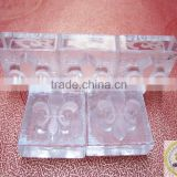 Custom personal logo rubber flash making clear soap stamps