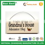 Grandma's House Admission 1 Hug sign yellow butterfly decorative wood sign                                                                         Quality Choice