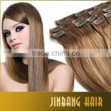 Unprocessed Wholesale Cheapest Human Hair 7 Pieces Full Head Cheap Colored Clip In Hair Extensions