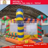Boxing ring shape multicolor inflatable bouncer for kids