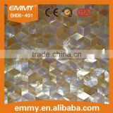 shaped gold raw mother of pearl shell tiles front wall