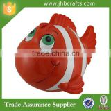 Hand Painted Fish Shaped Resin Money Box