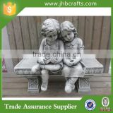 Boy And Girl Outdoor Decoration Resin Garden Statues