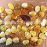 Natural Baltic Amber pendant for gold or silver jewelry, Amber cabochon