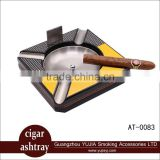 Wholesale custom stainless steel cohiba cigar ashtray with cigar cutter have nice packing