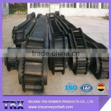 rubber sidewall conveyor belt to mining, chemical processing, cement, transportation, pulp and paper, metal