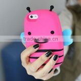 Bulk 3D Cute Bee Animal Shaped Silicone Cell Phone cases