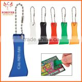 2015 Cheap PVC Promo Gifts Bead Chain Translucent Keychain Use For Scratch -off Ticket                                                                         Quality Choice
