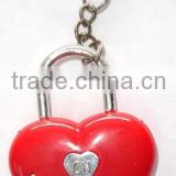 Fashion plastic key ring heart