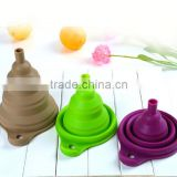 Beautiful And Portable/Mini Kitchen Collapsible/Folding/Foldable silicone funnel