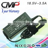 laptop parts and accessories for HP ac adapter output 18.5V 3.5A DC 4.8*1.7mm