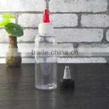 PET cylinder clear bottles 50ml with white flip top for shampoo                                                                                                         Supplier's Choice
