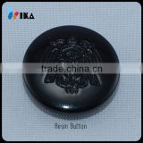 custom laser engraved flower resin buttons/resin button with black colour