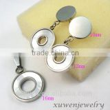 custom circle shape shell stainless steel jewelry sets for women