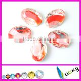 Wholesale fruit glass jewelry beads crystal material egg shape stones new design flower color
