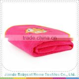 New coming trendy style knitted cartoon baby blanket with many colors