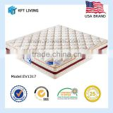 Using high grade brocade and fabric with copressed foam and 6 turns stainless spring for best mattress