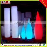 battery operated PE plastic water-drop shape floor lamp with LED light illuminated multi colors