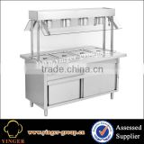 commercial electric stainless steel hot bain marie with cabinet electrial fast food equipment