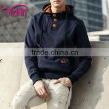 Flannel hoodie jeans jacket with hoodie for men