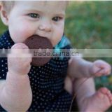 chocolate cookies Shaped Baby Teether Chew Silicone Safety Teether silicone bead necklace