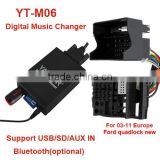 Yatour YT-M06 bluetooth car interface for Ford 12pin >USB/SD/AUX IN/ bluetooth digital music changer