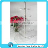 high quality tier tall acrylic table desk countertop cake display stand rack holder for wine party