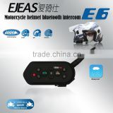 EJEAS E6 Wireless Bluetooth Bike Intercom Communications 6 rider connect 2 riders full duplex talking