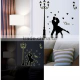 Street Lamp Couple Background Luminous Decoration Living Room Television Sofa Romantic Bedroom Bedside Wall Stickers ABQ9626