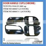#000473 chrome door handle cups for toyota hiace