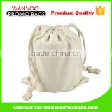 Wholesale Blank Cotton Big Flour Bag with Double Drawstring