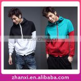Fashion Boys Zipper Up Sport Pullover Hoodie Mens Wholesale Hooded Sweatshirt