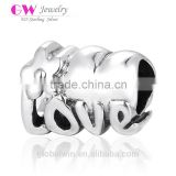 T151 Infinity Antique 925 Sterling Silver Floral Love Charm I Love You To The Moon And Back Charm Bead
