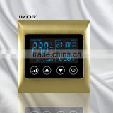 Good Quality IVOR 220V Central Air-Conditioner Thermostat Digital AC Thermostat Switch SK-AC2000L8 Satin Gold Metal Frame