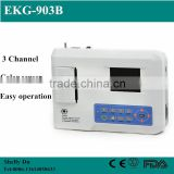 2016 Portable Color screen 3 Lead Electrocardiograph ECG Machine with Analysis Software EKG Machine-EKG-903BS-Shelly