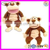 A241 New Baby Gift Soft Monkey Puppet Animal Plush Monkey Hand Puppet