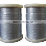 sellable stainless,pvc coated/galvanized,ungalvanized/alloy,unalloy steel wire rope strand with hemp,cotton or metal core