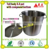 03 style Professional quality tall Body Large commercial Stock Pot/commercial cooking pot/outdoor pot metal